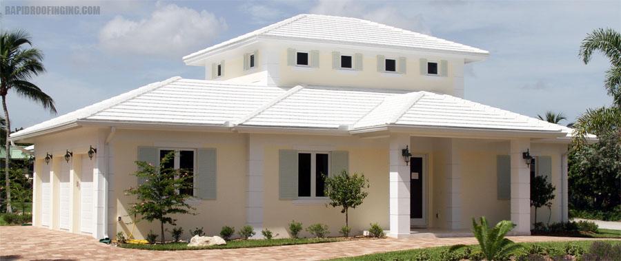 White Flat Tile Roof Tile Design Ideas