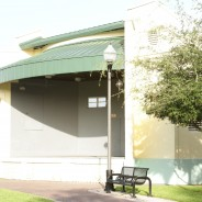 Tapered Standing Seam in Forest Green – Losner Park Stage, Homestead, FL